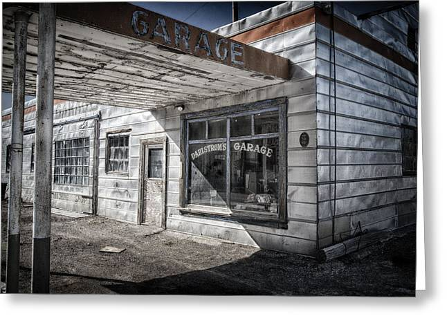 Travel Nevada Greeting Cards - Dahlstroms Garage Greeting Card by Cat Connor