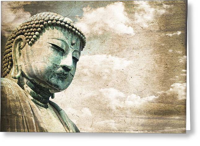 Kamakura Greeting Cards - Daibutsu Greeting Card by Delphimages Photo Creations