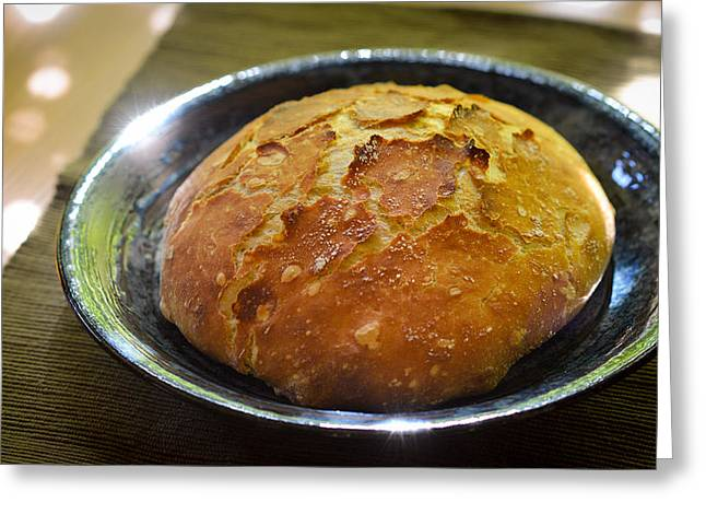 Loaf Of Bread Greeting Cards - Daily Bread Greeting Card by Ronda Broatch