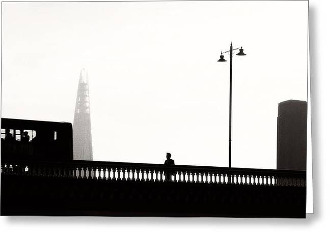 Daily Commute London Greeting Card by Paul Bucknall