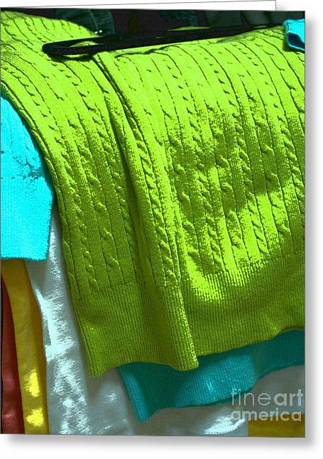 Yellow Sweater Greeting Cards - Daily Decisions Greeting Card by Paulette B Wright