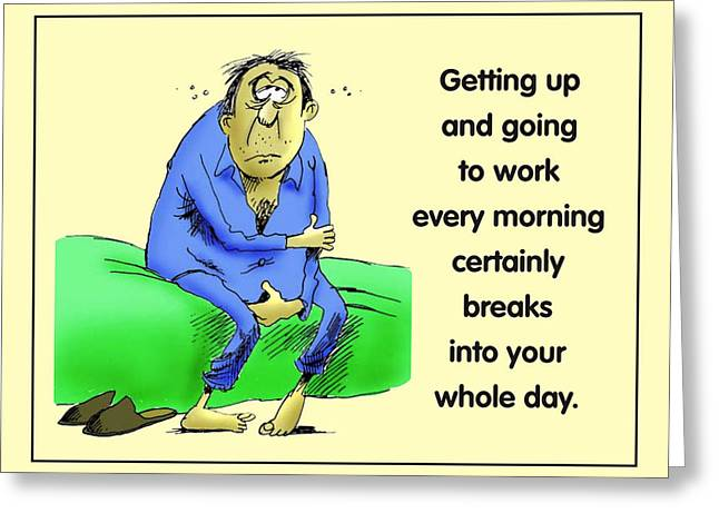 Take Over Greeting Cards - Daily Grind Greeting Card by Mike Flynn