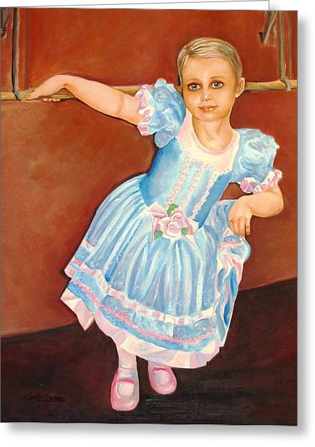 Ballet Bar Greeting Cards - Dainty Diva Greeting Card by Carol Allen Anfinsen