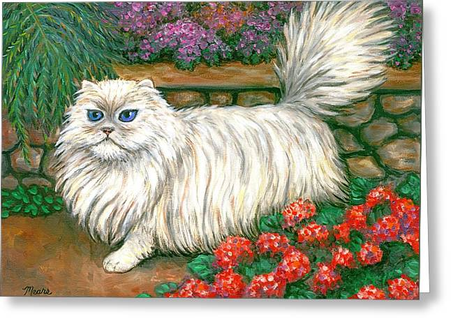 Dainty The Cat Greeting Card by Linda Mears