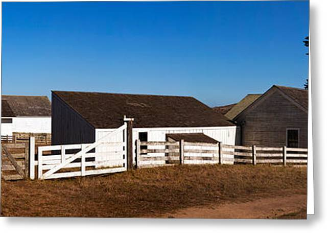 Marin County Greeting Cards - Dairy Buildings At Historic Pierce Greeting Card by Panoramic Images