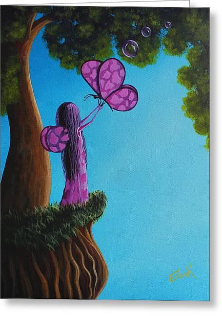 Dairy Fairy Original Colorful Artwork Greeting Card by Shawna Erback