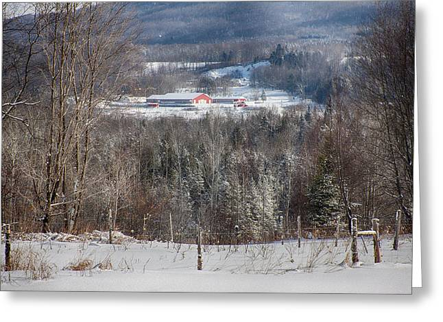 Dairy Farm On The Hill Greeting Card by Jeff Folger