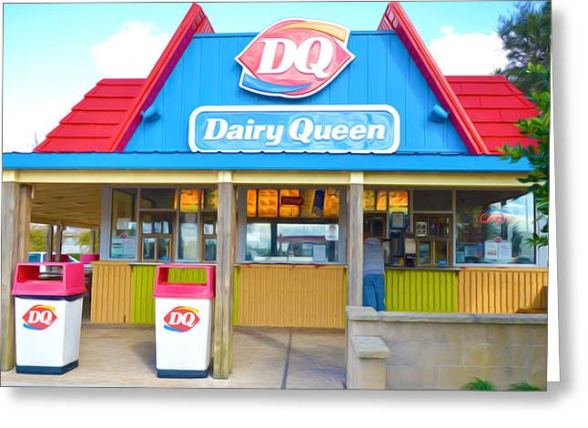 Editorial Paintings Greeting Cards - Dairy Queen Greeting Card by Lanjee Chee