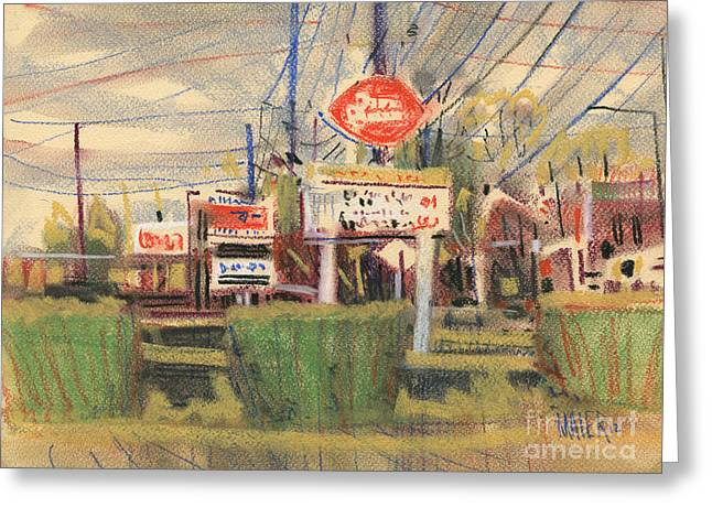 Queen Pastels Greeting Cards - Dairy Queen Sign Greeting Card by Donald Maier