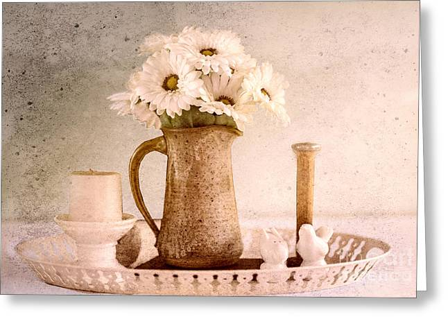 Still Life Photographs Greeting Cards - Daisies Greeting Card by Betty LaRue