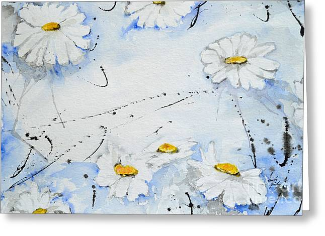 Ismeta Greeting Cards - Daisies - Flower Greeting Card by Ismeta Gruenwald