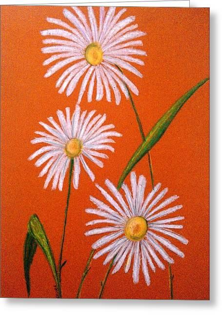 Daisies Pastels Greeting Cards - Daisies Greeting Card by Gaura Aggarwal
