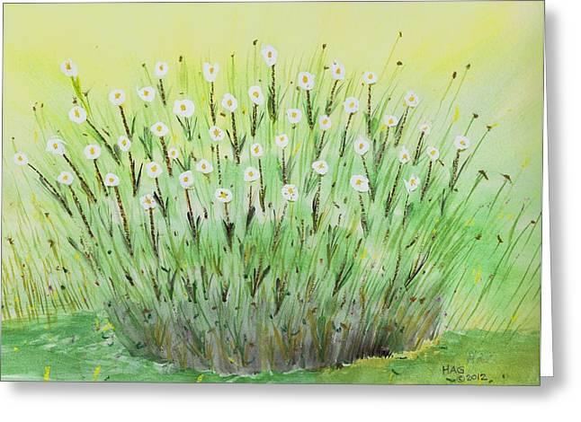Daisies Pastels Greeting Cards - Daisies Greeting Card by Harlan Gilbert