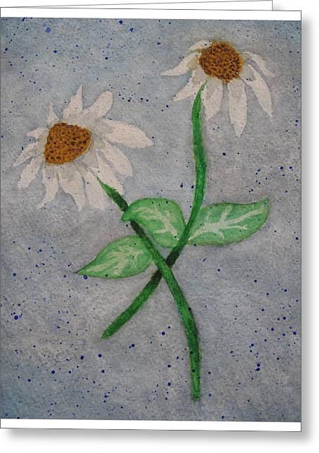 Daisies In Stormy Skies Greeting Card by Jennifer Schwab