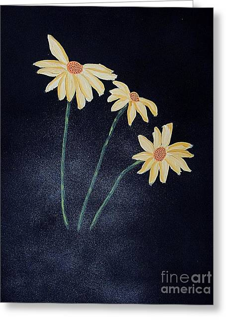 Flower Design Greeting Cards - Daisies In The Mist Greeting Card by Marcia Lee Jones