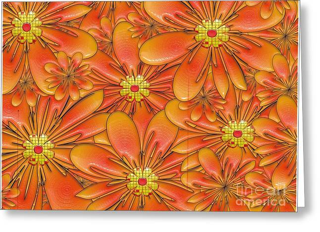Floral Embellishment Greeting Cards - Daisies Greeting Card by Liane Wright