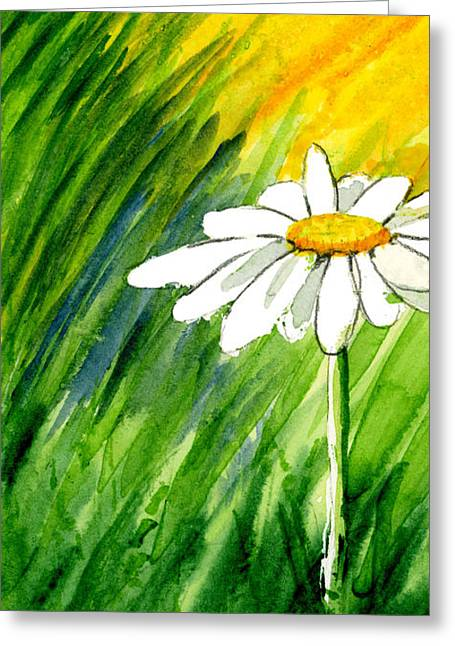 Daisy Framed Prints Greeting Cards - Daisy 1 of 3 Greeting Card by Annie Troe
