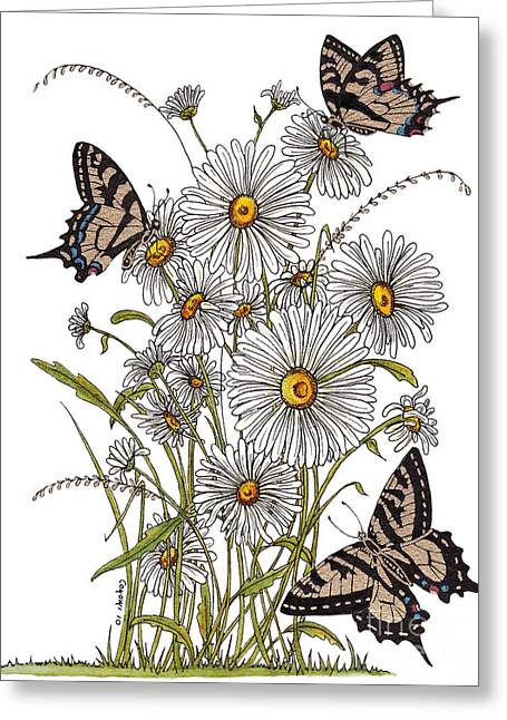Stanza Widen Greeting Cards - Daisy At Your Feet Greeting Card by Stanza Widen