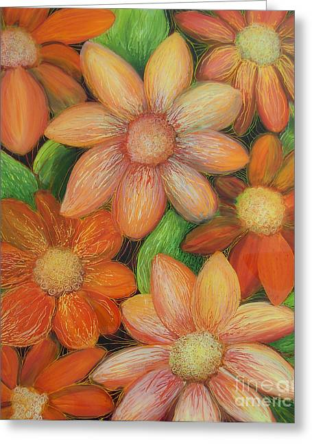 Daisy Bouquet Greeting Card by Anna Skaradzinska