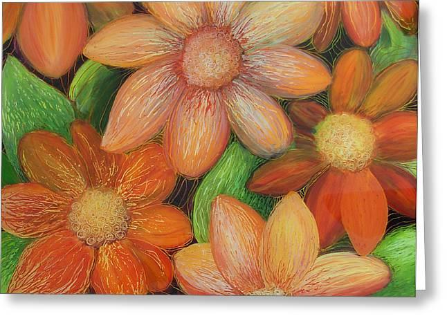 Daisy Bouquet Greeting Card by Anna Skaradzinska