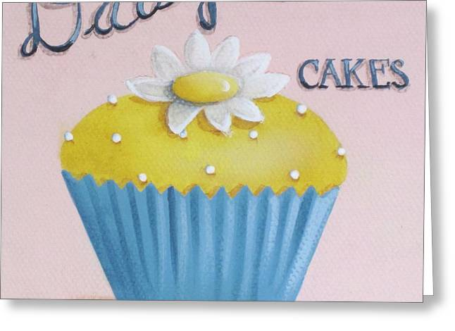 Cupcake Art Greeting Cards - Daisy Cakes Greeting Card by Catherine Holman