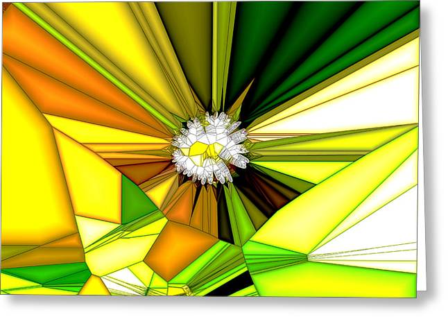 Geometric Style Greeting Cards - Daisy Greeting Card by Digital Me
