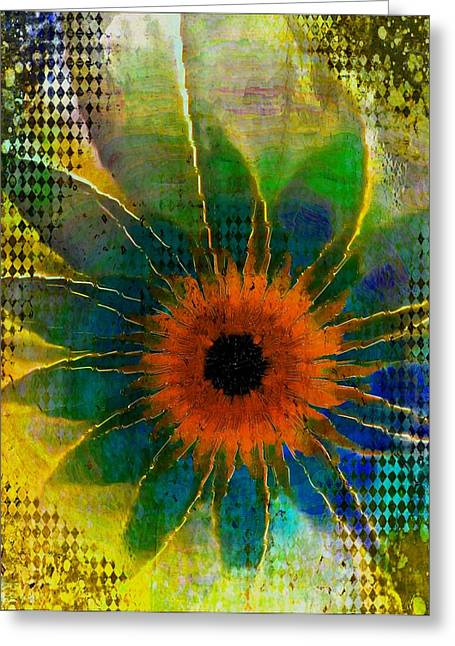 Floral Digital Art Digital Art Greeting Cards - Daisy Dots Greeting Card by Amanda Moore