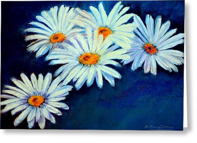 Daisies Pastels Greeting Cards - Daisy Fever  Pastel Greeting Card by Antonia Citrino