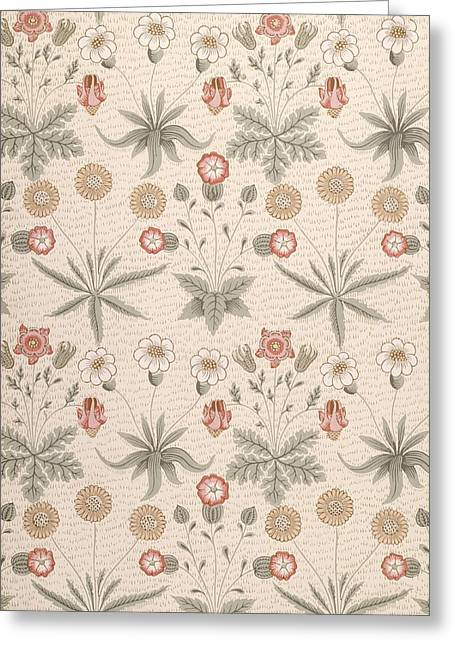 Flower Design Paintings Greeting Cards - Daisy, First Morris Design Greeting Card by William Morris