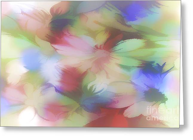 DAISY FLORAL ABSTRACT Greeting Card by Tom York Images