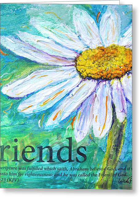 King James Version Greeting Cards - Daisy Friends Greeting Card by Lisa Fiedler Jaworski