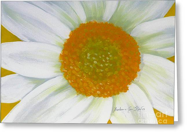 Disk Paintings Greeting Cards - Daisy - Gardener - Florist Greeting Card by Barbara Griffin