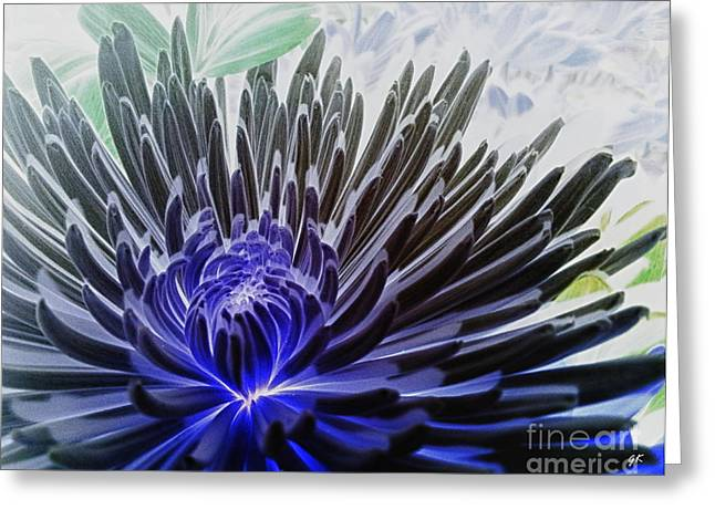 Contemporary Framed Prints Mixed Media Greeting Cards - Daisy Greeting Card by Gerlinde Keating - Keating Associates Inc
