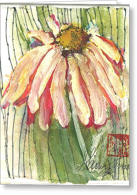 Wild Orchards Paintings Greeting Cards - Daisy Girl Greeting Card by Sherry Harradence