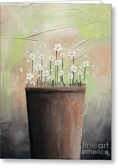 Home Art Greeting Cards - Daisy In Pot2 Greeting Card by Home Art