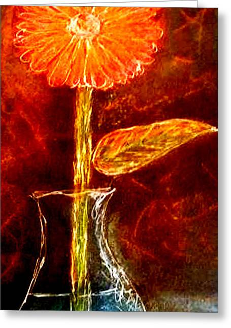 Color Enhanced Mixed Media Greeting Cards - Daisy In Sunlight Greeting Card by Melissa Osborne