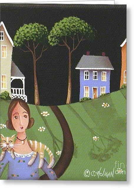 Country Cottage Greeting Cards - Daisy Mae and Betty Lou Greeting Card by Catherine Holman