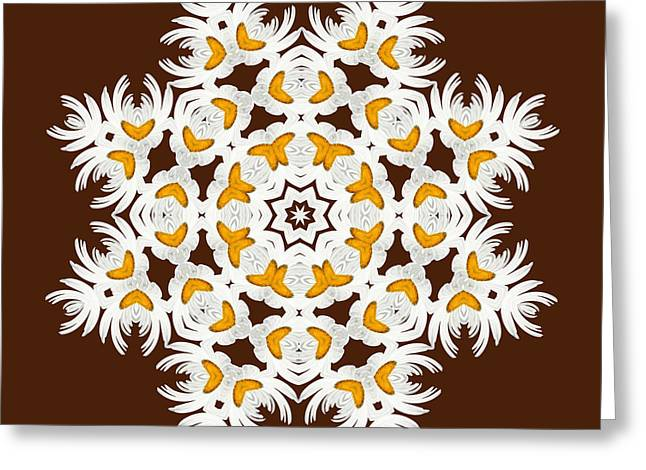Daisy Digital Art Greeting Cards - Daisy Mandala  12t Greeting Card by Variance Collections