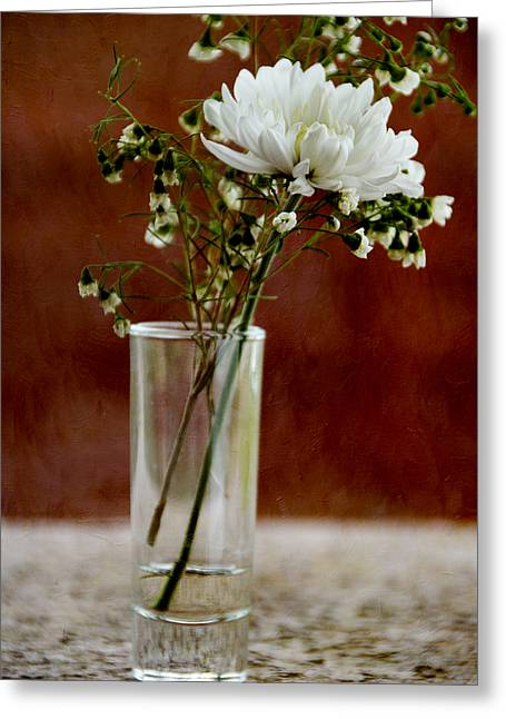 Daisy Mum On Red 2 Greeting Card by Angelina Vick