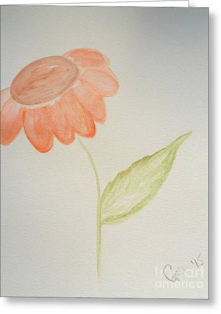 Watercolors Greeting Cards - Daisy shy Greeting Card by Gail Nandlal