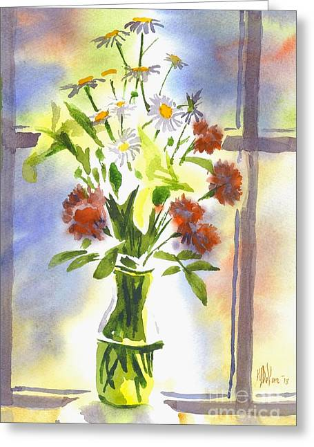 Interior Watercolour Greeting Cards - Daisy Supreme Greeting Card by Kip DeVore