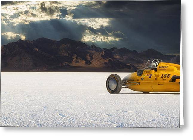 Bonneville Speed Week Greeting Cards - Dakota 158 Greeting Card by Keith Berr