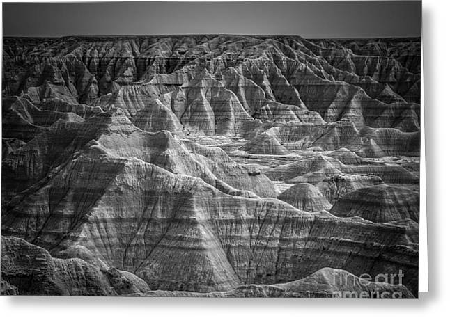 Desert Photography Greeting Cards - Dakota Badlands Greeting Card by Perry Webster