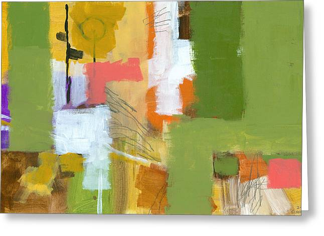 Abstract Expressionist Greeting Cards - Dakota Street 5 Greeting Card by Douglas Simonson