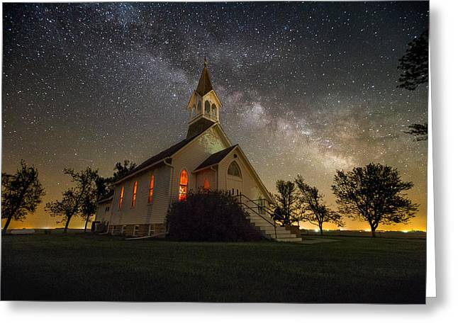 Dakotas Greeting Cards - Dakota Territory Milky Way Greeting Card by Aaron J Groen