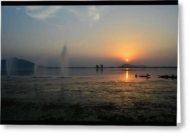 Dal Lake Greeting Cards - Dal lake Greeting Card by Kedar Narwadkar