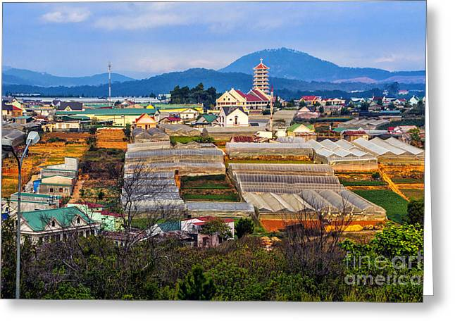 Dalat Greeting Cards - Dalat Skyline Greeting Card by Roberta Bragan