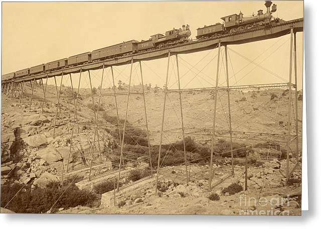 Dale Creek Bridge Union Pacific Greeting Card by Getty Research Institute