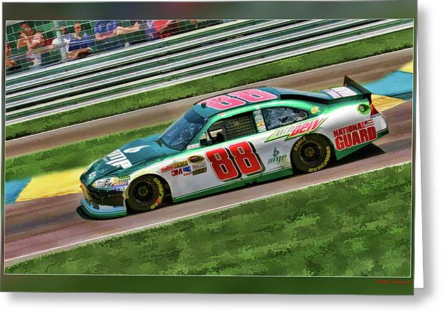 Earnhardt Digital Greeting Cards - Dale Earnhardt Greeting Card by Blake Richards
