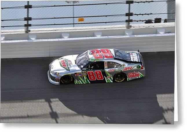 Jr Motorsports Greeting Cards - Dale Earnhardt JR Greeting Card by Jason Loving